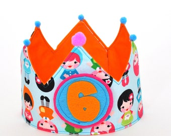 Crown birthday doll