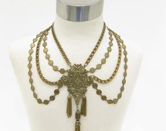 Vintage Multi-Strand Festoon Style Necklace