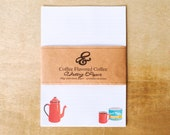 Eco-friendly coffee themed luxury writing paper set with premium envelopes