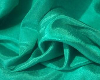 Jade Green High Sheen Fabric