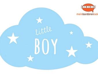 Wandtattoo: Wolke - little Boy   Wandsticker, Wandaufkleber, Wandgestaltung, Wolke für Babyzimmer, Kinderzimmer