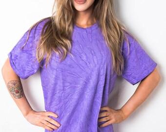 Purple Swirl Spiral Tie Dye T-Shirt Ladies