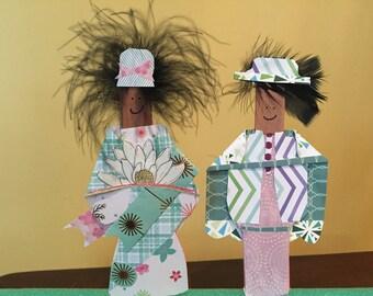 Mixed Media Paper Dolls - Featherheads Folk Art Set JT2-04