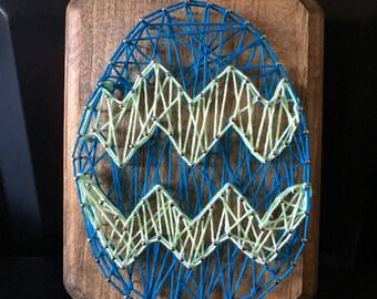 String Art Easter Egg