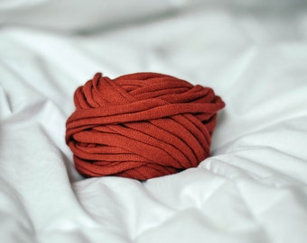 Red Recycled T-Shirt Yarn