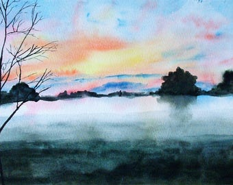 Watercolor painting 'Mysterious'