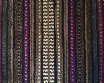 KAR Krafted 24''x 41'' Hand Twined Rug  Green & Purple Rag Rug Home Decor to Have or to Hang