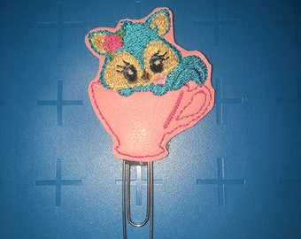 Kitty In A Teacup Planner Clip