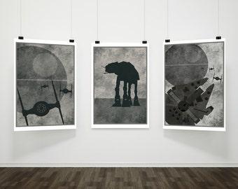 Star Wars Minimalist A3 Poster