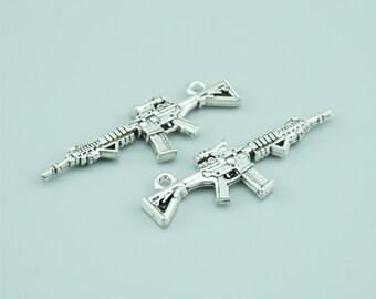 30pcs 45x13mm Antique Silver Gun Charm Pendants,Weapon Charm Pendants Z3100