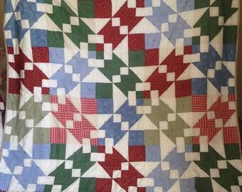 "Handmade Quilt ""Diamond"""
