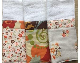Baby Shower Gift / Burp Cloths, Set of Three