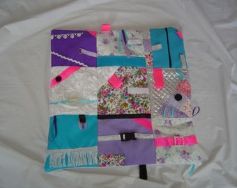 Fidget/Dementia/Anxiety/Sensory activity quilt/blanket