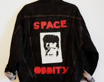 "Denim Jacket ""SPACE ODDITY"""