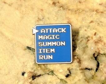 Final Fantasy Attack Battle Bar Enamel Pin