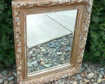 Beautiful Ornate Mirror Gold Shabby Chic French Decor