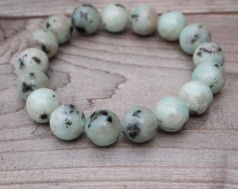 10mm Sesame Jasper Beaded Bracelet