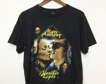 El Cantante Movie Jennifer Lopez Marc Anthony T-Shirt Made in America Cotton Black MEDIUM Shirt Drama Music Film