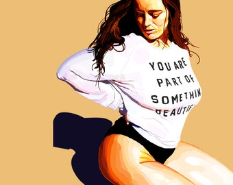 tia provost model you are part of something beautiful portait digital painting