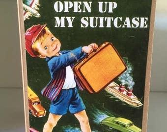 Cute travel suitcase card