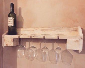 Handmade Wine glass shelf