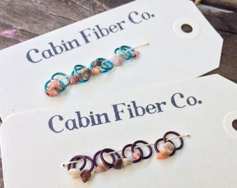 Colored Jump Ring - Small Shell Stitch Markers