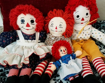 Vintage Raggedy Anne and Andy Dolls