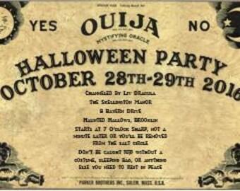 Ouija Board Halloween Invitation