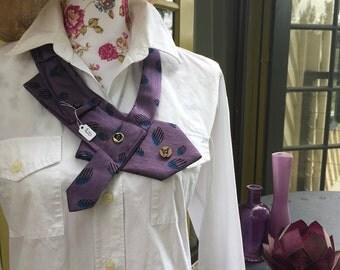 Purple statement neckpiece/necklace