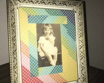 Vintage Framed Portrait of Little Girl