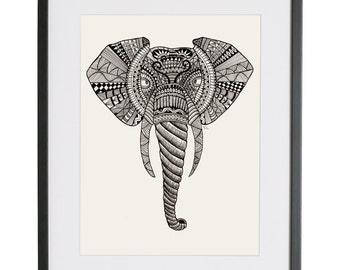 Elephant art | Elephant Illustration | Elephant Tattoo | Illustration Print