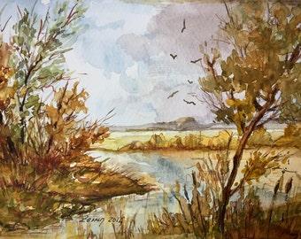 Original Watercolor Painting, Autumn Series 1