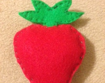 Felt Play Food- Strawberry