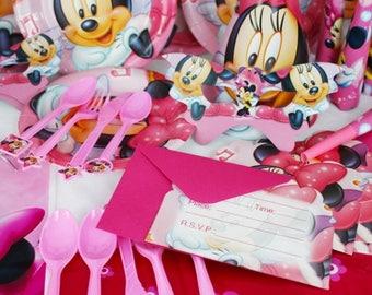 Minnie Mouse & Frozen Party pack set