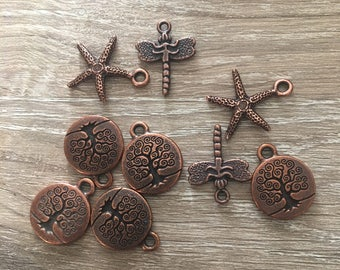 Starfish Charms / Firefly Charms / Tree of Life Charms / Bracelet Charms / Necklace Charms / Beads and Charms