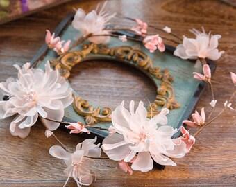 Aurora Silk Flower Crown / Hair Vein // Wedding / Prom / Bridesmaids