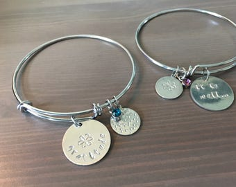 Personalized Stamped Charm Bangle