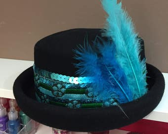 Festival feather hat