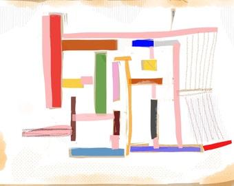 Art Book contemporary geometric digital prints #16