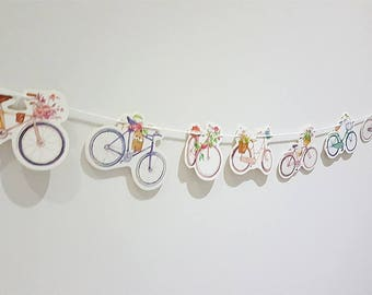 Bicycle Paper Garland Bunting