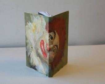 One-of-a-Kind Handmade Clown Notebook/Journal