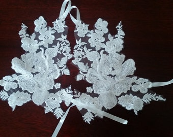 Lace wedding gloves.Bridal gloves. Wedding gloves. Fingerless gloves. Handmade lace gloves.
