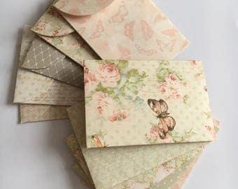 Mini envelopes , set of envelopes, handmade envelopes,