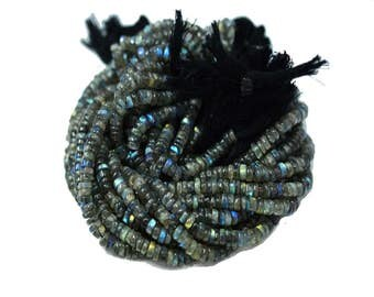 AAA Quality Natural LABRADORITE tyre smooth Shape \13.5 inch strand approx