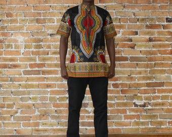 Black Dashiki Shirt