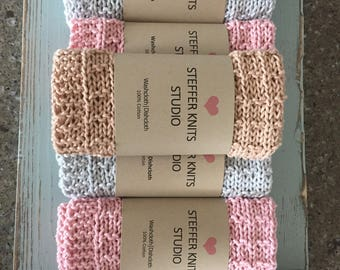 Spa Cloth|Dish Cloth|Set of 2-you choose the colors-Nude|Mint|Pink|Cream|Silver|Charcoal|Also choose waffle or textured pattern-pic1 or pic2