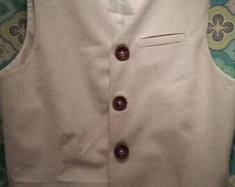 Men's Vest w/ single welted pocket