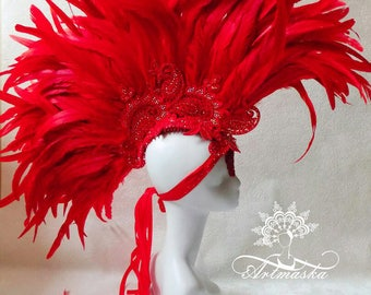 "Headdress ""Red Mohawk"""