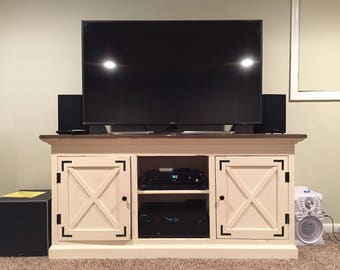 Handcrafted Media Console