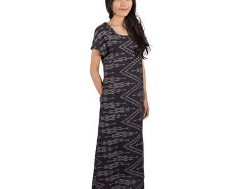 Column Dress — Handwoven Ikat and Naturally-Dyed in Thailand